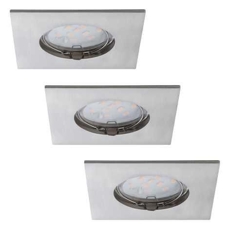 Paulmann 92762 - SADA 3x LED Kúpeľňové podhľadové svietidlo COIN 3xLED/6,8W/230V