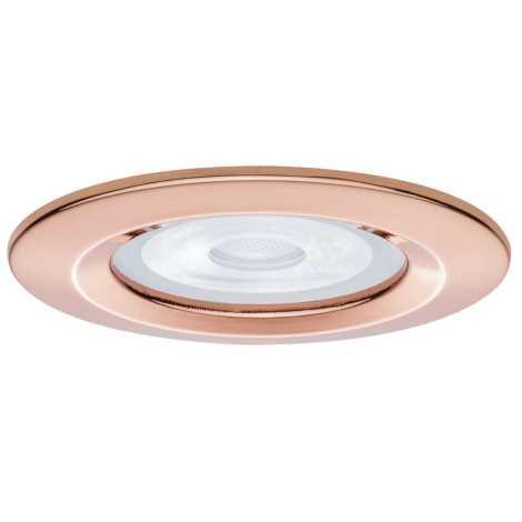 Paulmann 93596 - LED Kúpeľňové podhľadové svietidlo NOVA 1xGU10/7W/230V rosegold