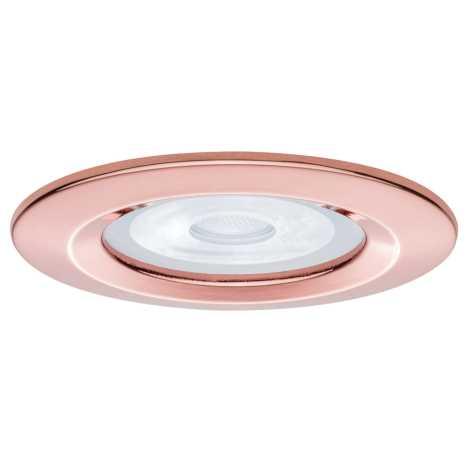 Paulmann 93634 - Kúpeľňové podhľadové svietidlo NOVA 1xGU10/35W/230V rosegold