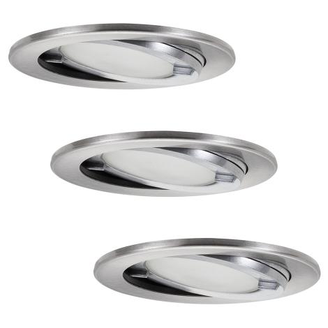 Paulmann 98571 - SET 3x 3x Kúpeľňové podhľadové svietidlo 3xG4/20W/230V/12V