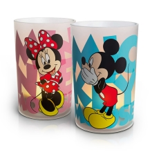 Philips 71712/55/16 - LED stolná lampa CANDLES MICKEY & MINNIE MOUSE (sada 2ks.) 1xLED/0,125W/230V