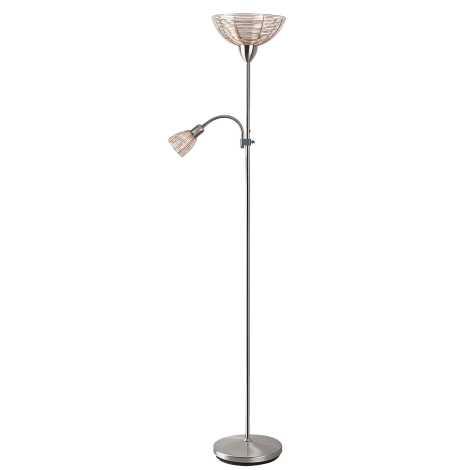 Rabalux 4186 - Stojacia lampa EZRA E27/G45/60W + E14/40W