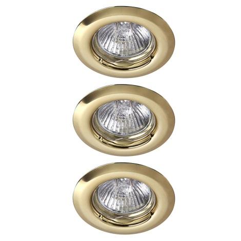 Rabalux - SADA 3x LED Kúpeľňové podhľadové svietidlo 3xGU10/6W/230V + 3xGU10/50W/230V