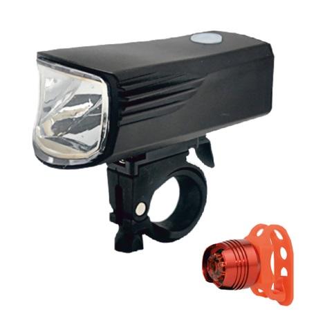SADA 2x LED Nabíjacia cyklobaterka LED/5W/USB