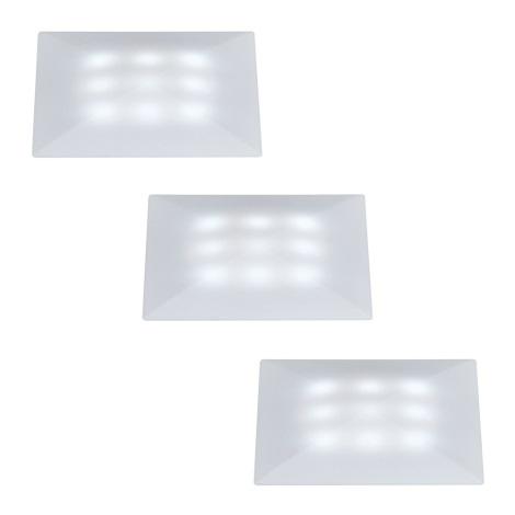 SADA 3x LED podhľadové svietidlo UPDOWNLIGHT QUADRO 3xLED/1W/230V IP67