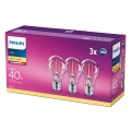 SADA 3x LED Žiarovka Philips E27/4,3W/230V 2700K