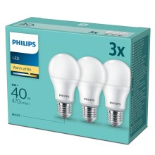 SADA 3x LED Žiarovka Philips E27/6W/230V