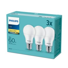SADA 3x LED Žiarovka Philips E27/9W/230V