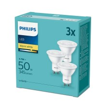 SADA 3x LED Žiarovka Philips GU10/4,7W/230V