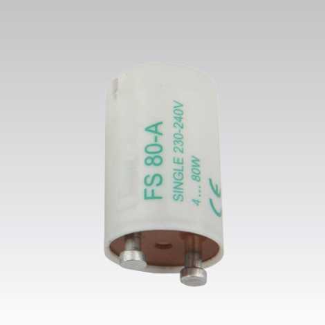 Štartér tlejivkový pre žiarivky SINGLE 4-80W 230V