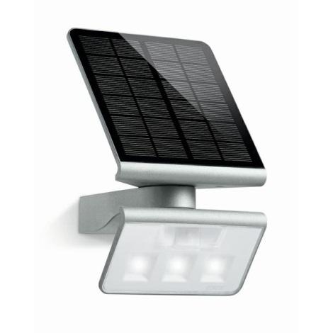 STEINEL 671013 - Solárný senzorový LED-reflektor XSolar LS 0,5 W / LED strieborná