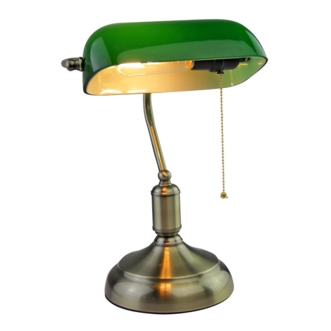 Stolná lampa BANKER 1xE27/60W/230V