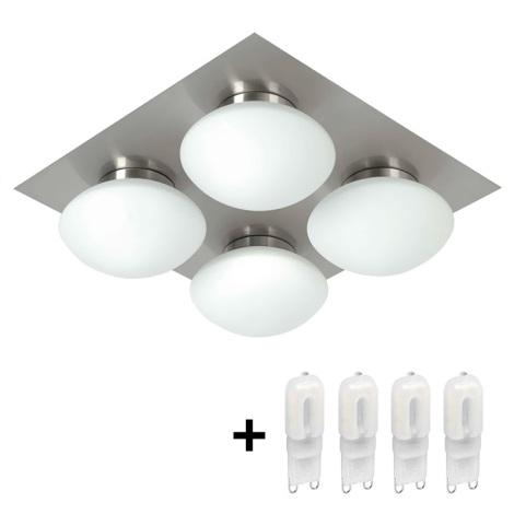 Top Light Dunaj - Kúpeľňové stropné svietidlo 4xG9/40W/230V IP44