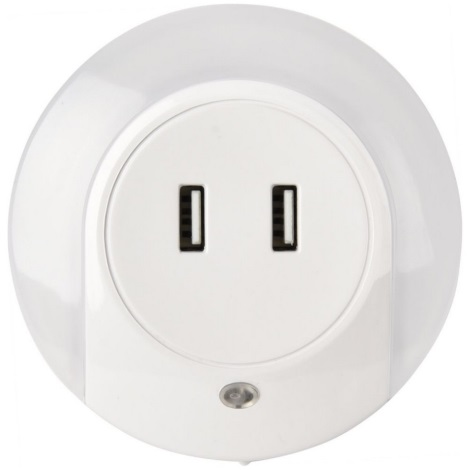 USB nabíjačka s LED podsvietením LED/0,4W/230V