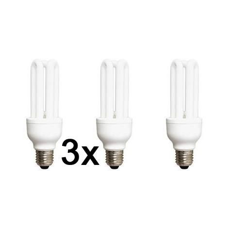 Úsporná žiarovka E27/22W 2700K sada 3 žiaroviek