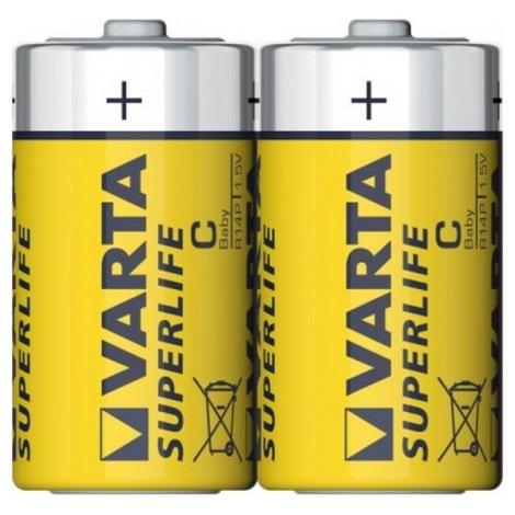 Varta 2014 - 2 ks Zinkouhlíková batéria SUPERLIFE C 1,5V