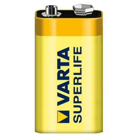 Varta 2022 - 1 ks Zinkouhlíková batéria SUPERLIFE 9V