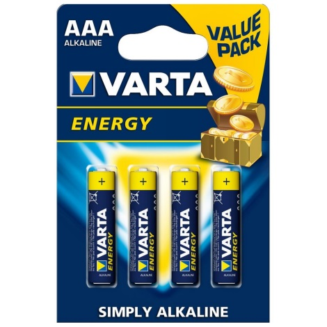 Varta 4103 - 4 ks Alkalické baterie ENERGY AAA 1,5V