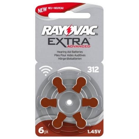 Varta Rayovac 40000 - 6 ks Batéria do naslúchadiel 312 1,45V
