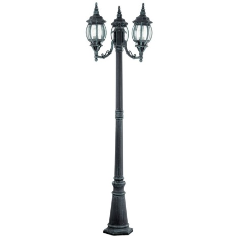 Vonkajšia lampa OUTDOOR CLASSIC 3xE27/100W čierna/zelená