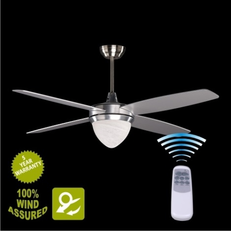 YORK stropný ventilátor so svetlom 2xE27/25W/230V