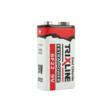 Zinkochloridová batéria 9V Trixline Extra Power